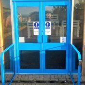 Blue Dolphin Doors With Frame And Auto Swings